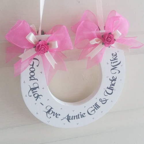 Personalised Wedding Horseshoe -The Pinks
